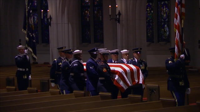Watch the arrival ceremony for George H.W. Bush at St. Martin's Episcopal Church