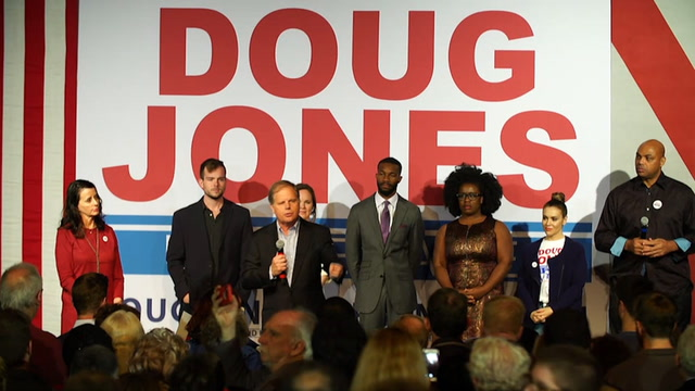 Jones urges Alabama voters to put 'decency' before political party