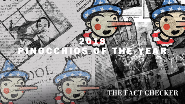 The biggest Pinocchios of 2018