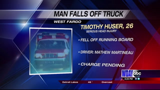 West Fargo man injured after falling off friend's truck