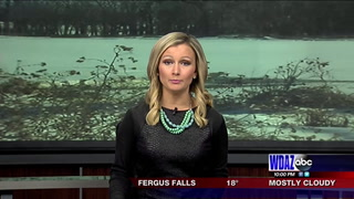 Freezing temps preventing predicted flood