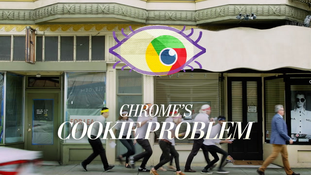 This is how Google's Chrome lets the cookies track you, imagined in real life