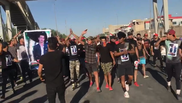 Sniper fire and tear gas: On the ground in Baghdad's anti-government protests