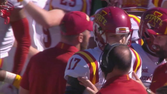 Iowa State takes a 17-6 lead on Kyle Kempt's 2nd TD pass of the day