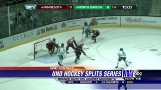 UND strikes back to blank Gophers 4-0