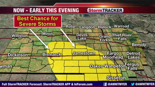 Tracking A Few Strong  Storms Through Early Evening