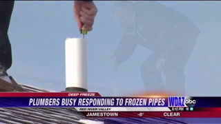 Plumbers busy responding to frozen pipes