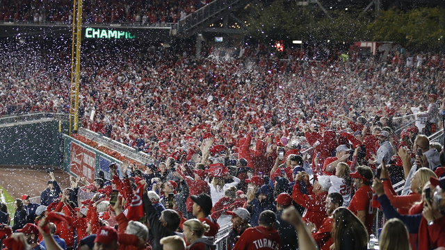 Fans erupt into celebrations as Nationals advance to World Series