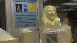 Goodhue County's Princess Kay carved in butter