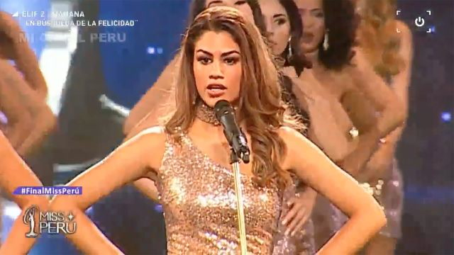 Miss Peru Pageant Contestants Gave Statistics on Gender Violence Instead of Their Body Measurements
