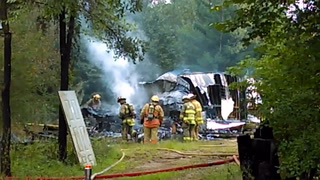 Fire destroys town of St. Joseph trailer home