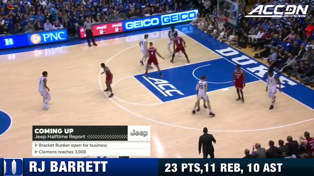 Duke's RJ Barrett Tallies A Triple-Double