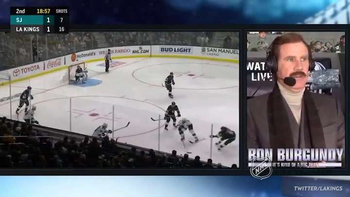 Will Ferrell Brings Back 'Anchorman' Character Ron Burgundy During L.A. Kings Hockey Game