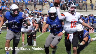 VIDEO: DWU defensive lineman Brady Mudder talks defense, Saturday's game at Hastings