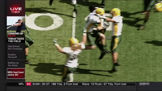 Chris Klieman and Carson Wentz on ESPN