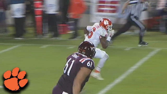 Clemson LB Dorian O'Daniel Pick-Six Seals Win Over Virginia Tech