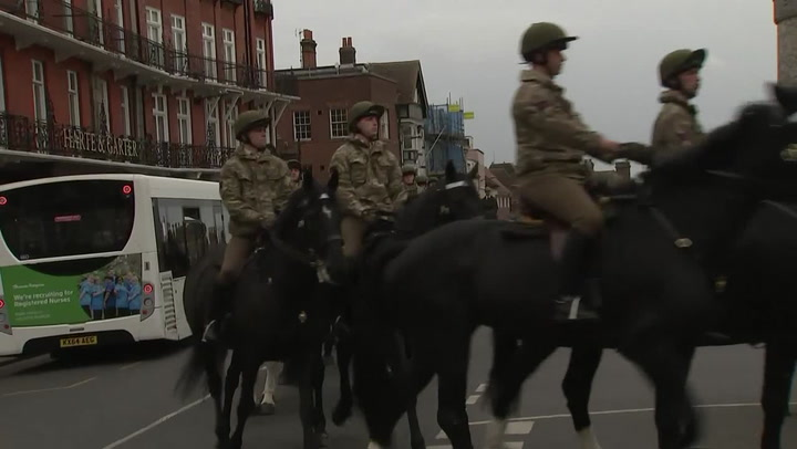 Windsor Household Cavalry salute Prince Philip