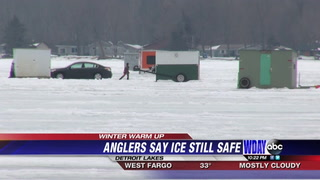 Warm temps thin ice, worrying some fishermen