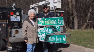 A sign of honor: Robinson Ave named after longtime resident