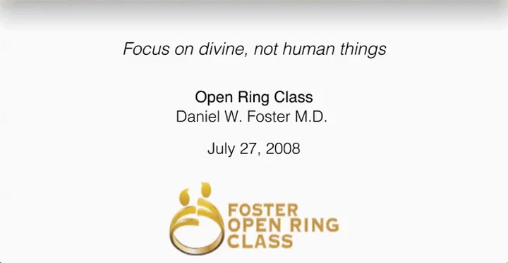 Focus on divine, not human things