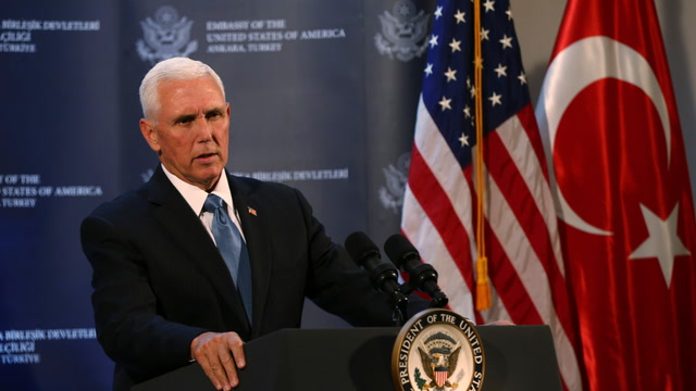 Pence announces U.S. and Turkey have agreed to a cease-fire in northern Syria