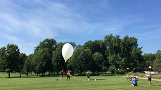 UM-Morris launches weather balloon