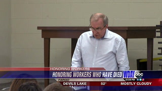 Ceremony honors the lives North Dakotans killed on the job