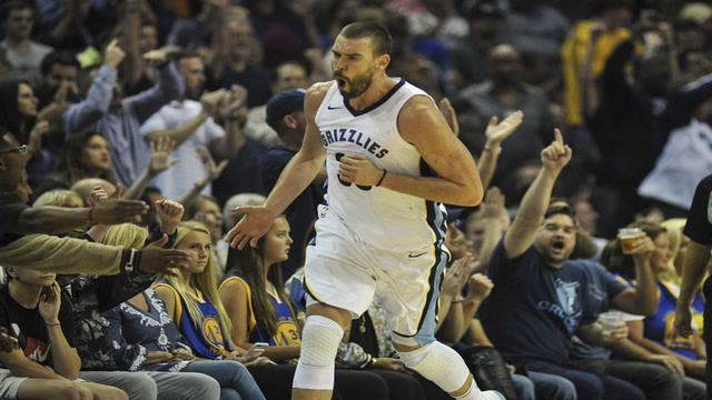 Grizzlies LIVE to GO: Marc Gasol with a season high 34 points leads the  Grizzlies to victory over the Warriors 111-101
