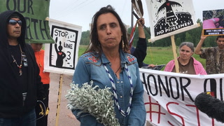 Protesters make stand against Enbridge Line 3 decision