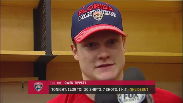 Owen Tippett on his NHL debut with Panthers