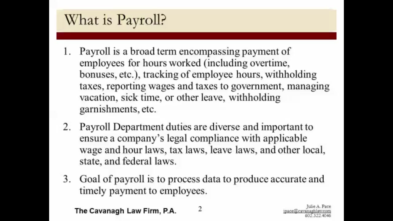 Preparing a Payroll Procedures Manual — Video | Lorman Education ...