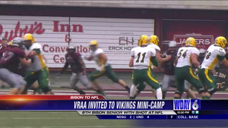 Vraa invited to Vikings mini camp