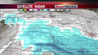 Snow Across the Dakotas with More Cold Temperatures
