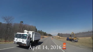 Hwy 371 Road Construction  Time Lapse