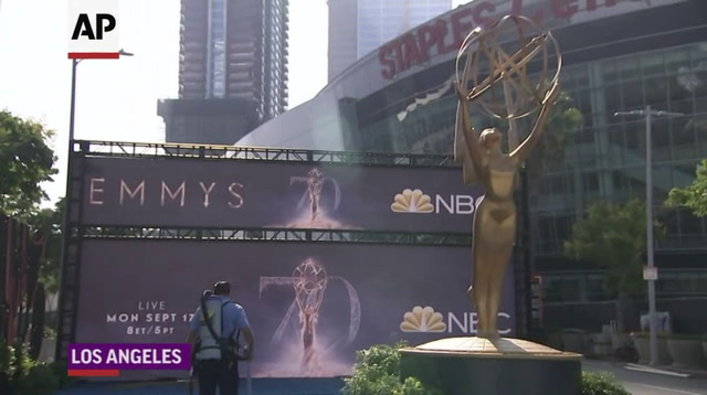 Gold carpet rolled out for Emmy Awards