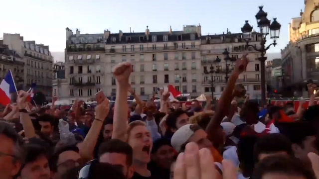 Jubilant fans celebrate France's advancement to World Cup final