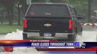 Rain affecting many drivers in Grand Forks