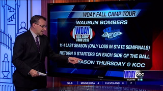 WDAY Fall Camp Tour: Waubun Bombers