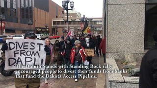 DAPL rally marches into downtown Duluth banks