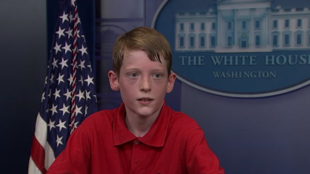 Boy gets his wish to mow White House lawn
