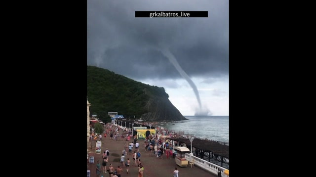 Spectacular Waterspout Seen over Black Sea