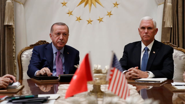 Pence, Pompeo meet with Turkish president