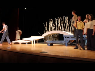 "Scene from East High School's ""The Diviners"""