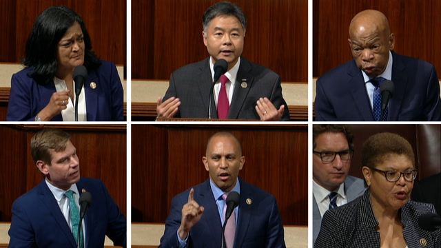 House Democrats repeatedly call Trump's tweet 'racist' on House floor