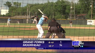 Blues tops Grand Forks 14-1