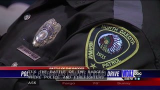 Police and firefighters battling it out in blood drive