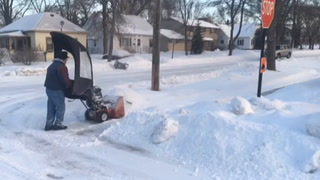 Snow removal with cold to follow