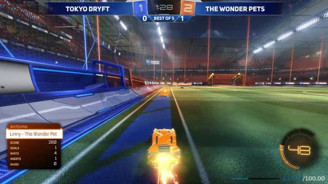 PrimeThunder dribbles around (and through) the defenders for this one