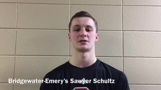 Sawyer Schultz talks about Huskies win over Lower Brule